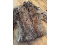 Warehouse fur coat size 6 wore once