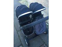 First wheels double pram