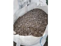 URGENT TO SELL! - Graphite Grey Slate Chippings for Garden Landscapping 40mm x4 850KG Bags