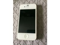 iPhone 4s 64gb white absolute mint condition tempered glass front and back perfect first phone