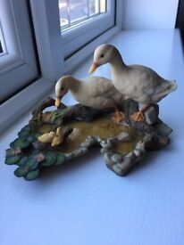 Ainsley 1985 hand painted ornament ducks