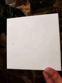 1000 white ceramic tiles 6 x 6 inch