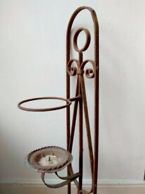 Antique Wall Sconce Candle Holder Indoor/Garden - Vintage French Shabby Chic