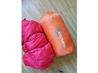 2 sleeping bags, one is Skandika