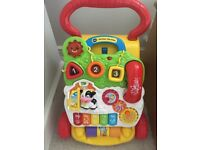 V Tech my first steps baby walker