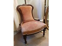 Elegant Antique Victorian Nursing Chair in Excellent Condition
