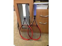 (4 1/8) - 2 Head Graphene Prestige Pro Tennis Racquet - strung. Tennis Racket