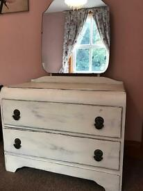 Shabby Chic Vintage Dressing table with draws