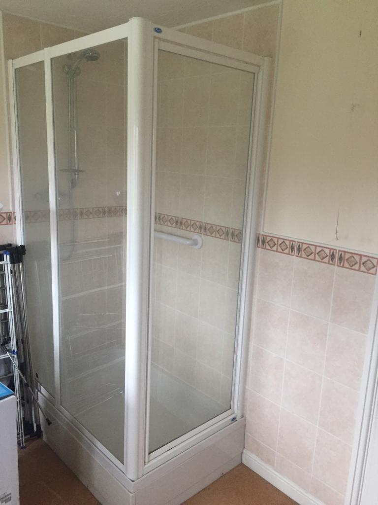 Large double shower tray doors and shower full set used | in ...