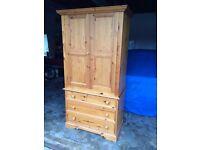 Pine Furniture - Hanging Cupboard & 3 Drawers
