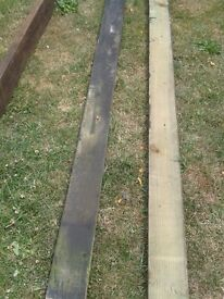 TREATED OUTSIDE PINE JOISTS - DIY PROJECTS - RE-USE - SOLID GOOD CONDITION