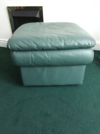 Teal green footstool