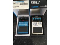 Pre owned Boss DD7 digital delay unit and Boss PS-6 Harmonist