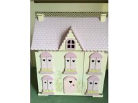 ELC Wooden Dolls House complete with furniture .