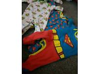 0-3 month superhero bundle 3 sleepsuits