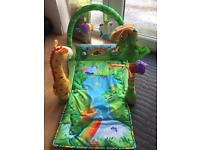 Fisher price jungle themed play gym