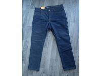 REVIT Lombard 2 Motorcycle Mens Jeans 38 Waist 32 Leg Dark Blue