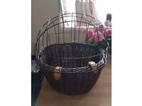 Pet bicycle carrier wicker dog basket Brand new