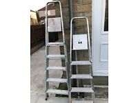 A set of 5 tier ladders and 6 tier ladders