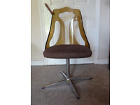 Vintage 1970s perspex swivel chair