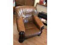 Solid leather armchair FREE