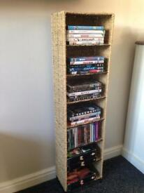 Wicker CD/DVD Storage Unit