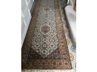 Handmade wool rug runner
