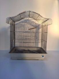 Large Chrome and White Bird Cage for Budgie RRP £39.99