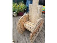 Childrens mini cable reel chair