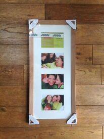 BRAND NEW John Lewis birch photo frame 4 aperture 25 x 60cm
