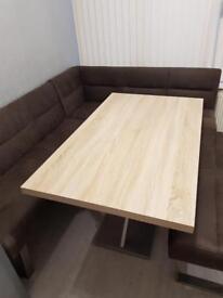 SCS Riviera LHF Corner Table Set