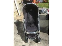 Pram- I candy peach 3 with 2 seats, 2 carrycots and adaptors