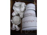 Dinneware, set of dinner plates, cups and saucers and oher bits