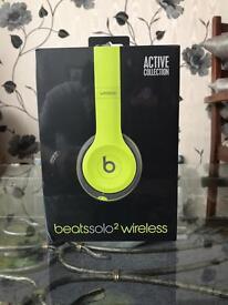 Beats Solo2 Wireless Headphones Active Yellow