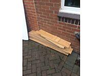 Wood floor used