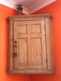 Antique wooden corner Cupboard