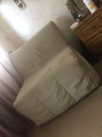 Beige/stone sofa bed chair