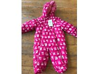 Baby snow suit one piece - brand new. 3 to 6 months.
