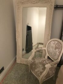 Louis chair and mirror