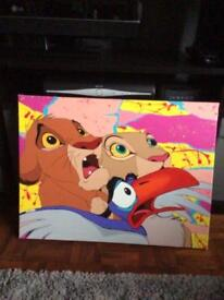 Lion King canvas hand painted