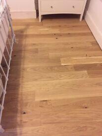 Engineered oak wood flooring