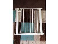 Safety first baby stair gate - white U pressure fit