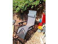 Garden reclineing chairs