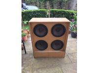 80's vintage home made 4x12 guitar speaker cab!