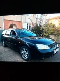 Good condition Black Ford Mondeo Estate 2.0 Turbo Diesel Injection