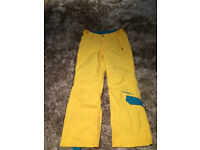 Boys or girls yellow ski trousers- O'Neill- VGC, 152cm