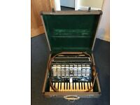 Beautiful Parrot Accordion with original case