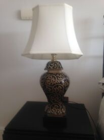 Large bedside lamps