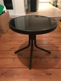 Black Garden / side glass table