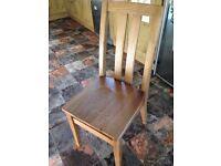 Solid oak dining chairs.. 6 months old